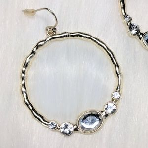 Jewelry - Crystal & Gold Hoops